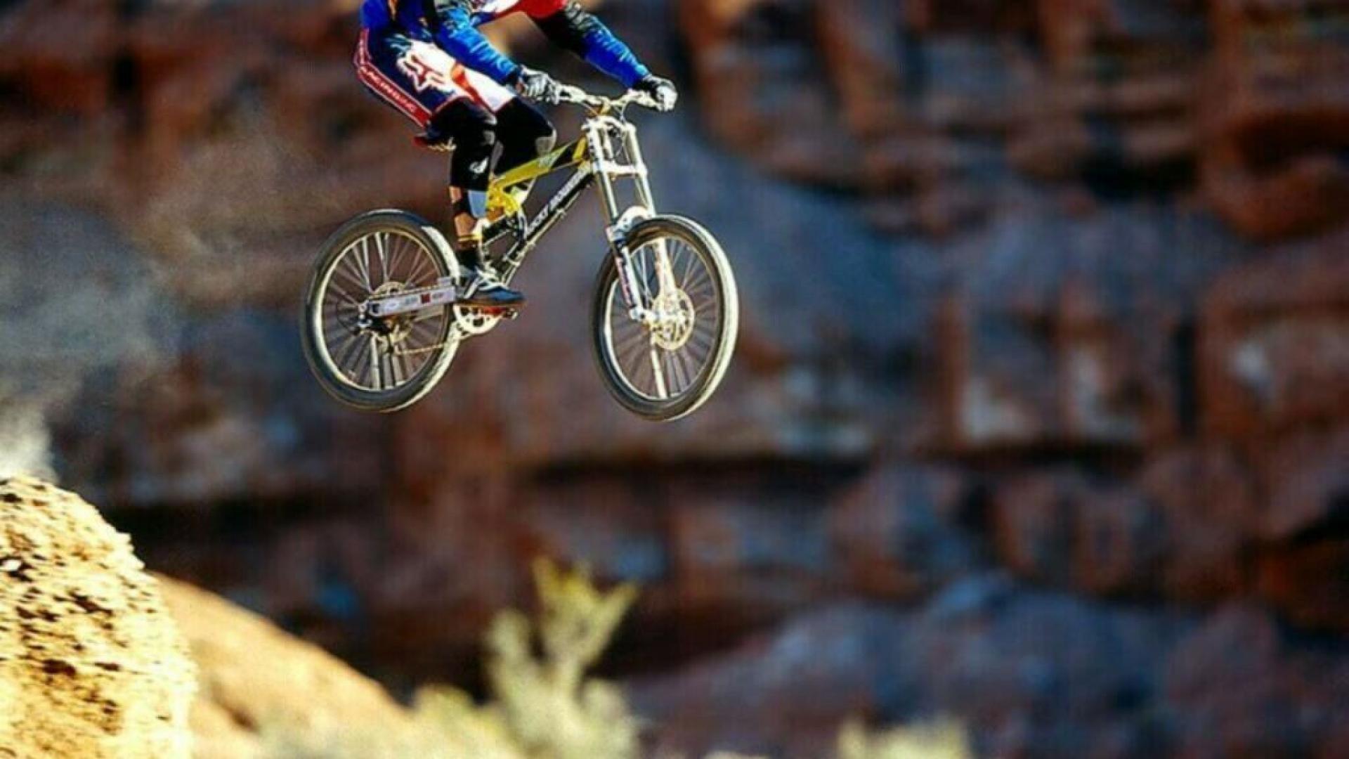 Feature Wall Wallpaper 3d Downhill Mountain Bike Wallpaper 183 ①