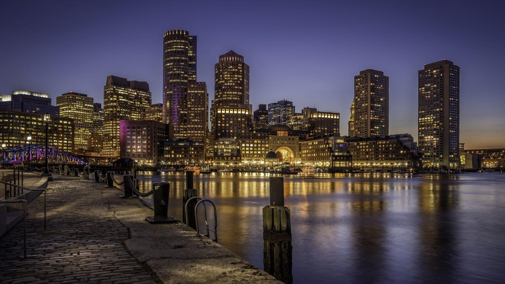 Real Hd Wallpapers 1080p Boston Skyline Wallpaper 183 ①