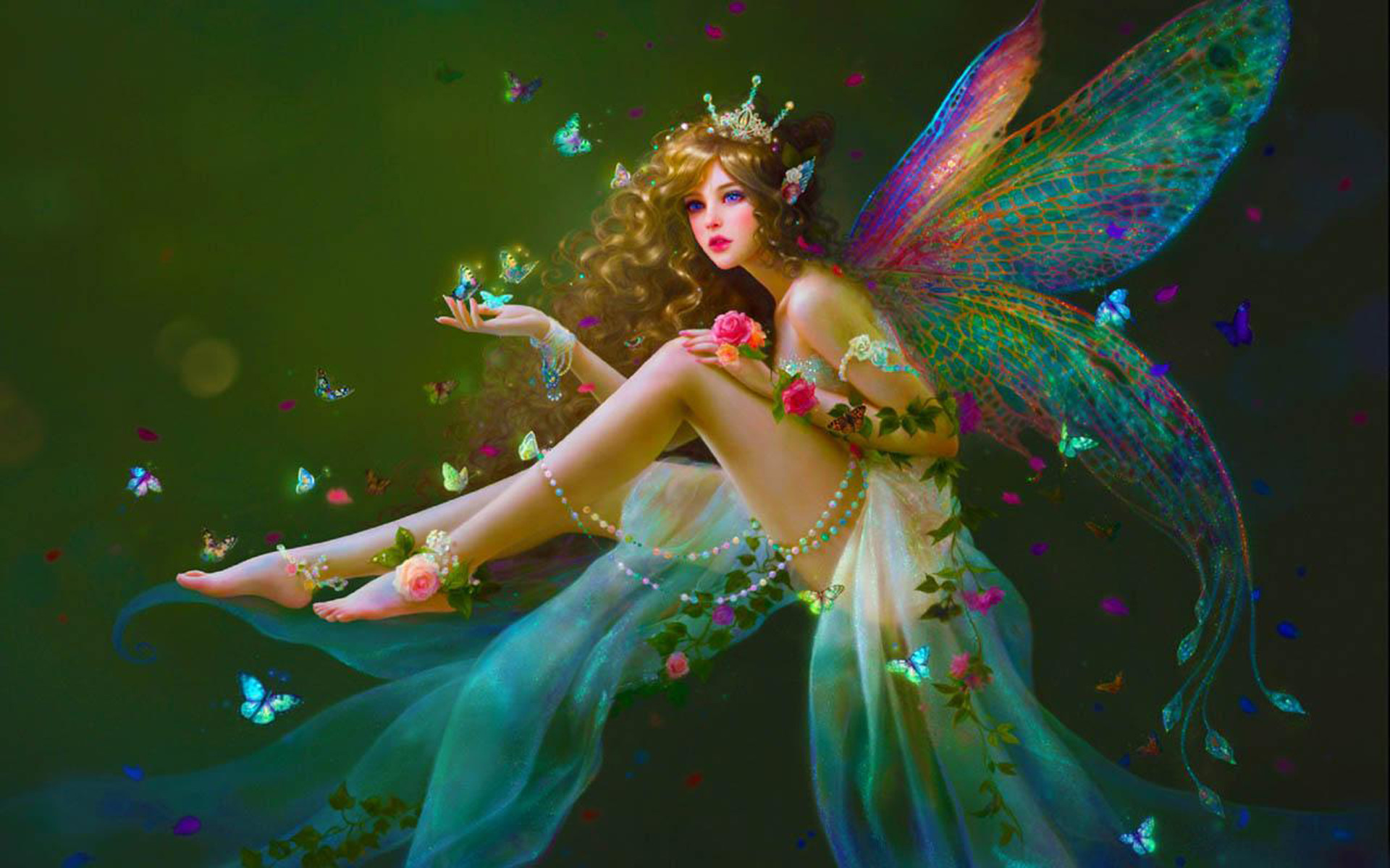 Fantasy Beautiful Girl Wallpaper Beautiful Fairies Wallpapers 183 ①