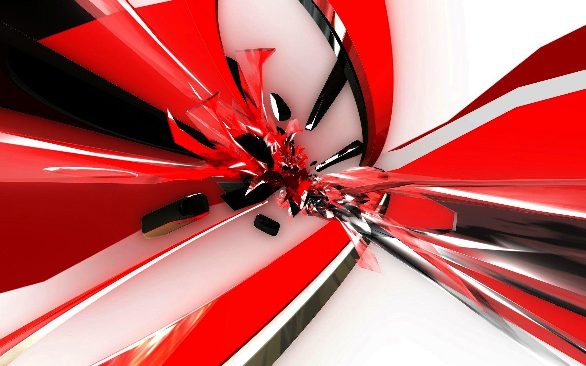 Fullsize Of Red And White Wallpaper