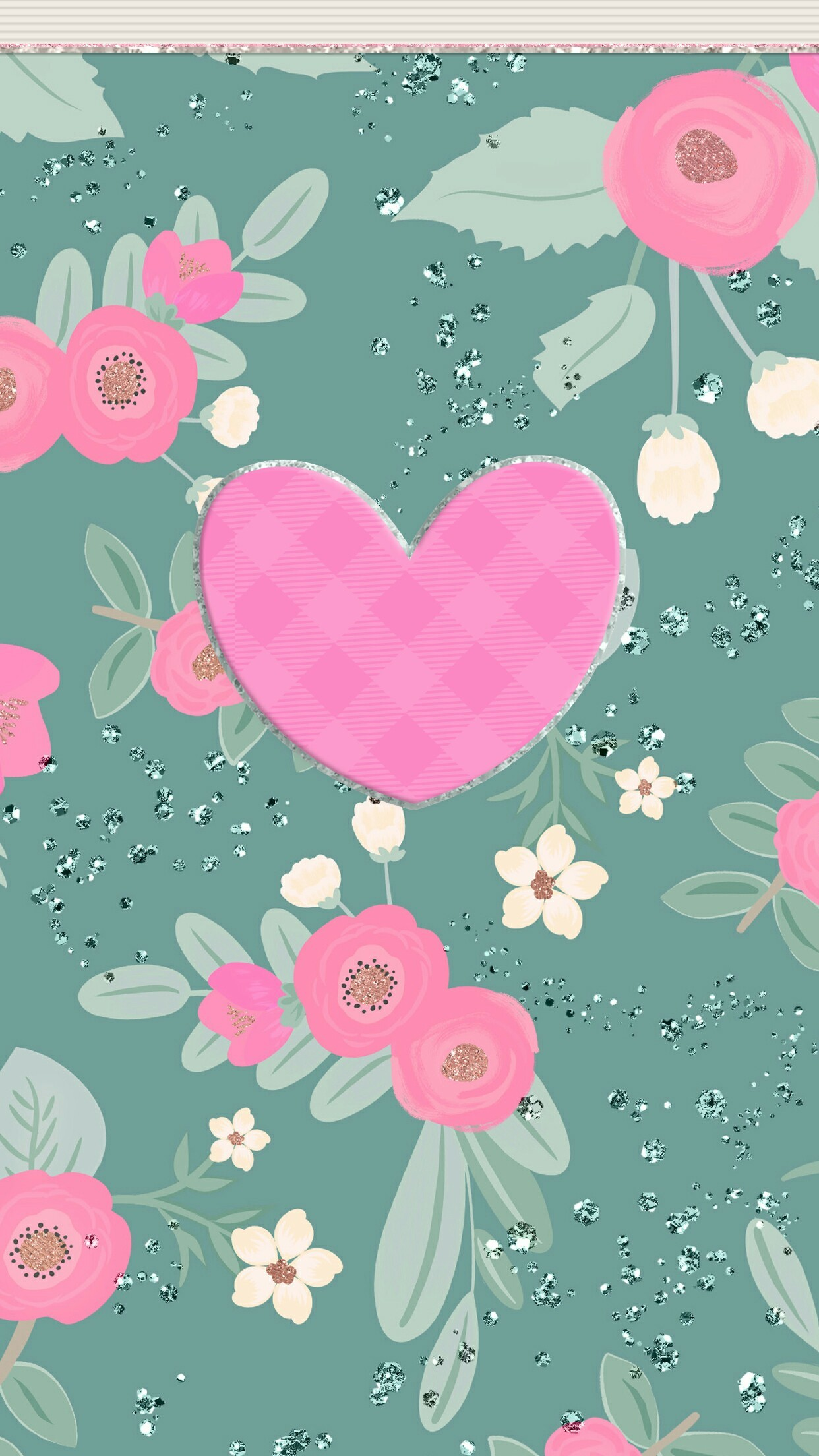 3d Colours Wallpaper Heart Pretty Floral Backgrounds 183 ①