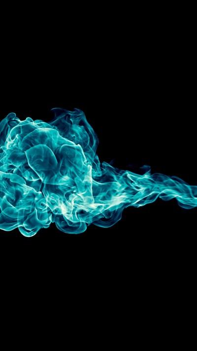 Blue Fire Wallpaper ·①