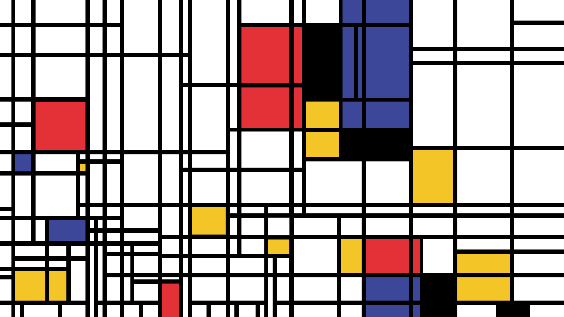 Mondrian Wall Piet Mondrian Wallpapers ①