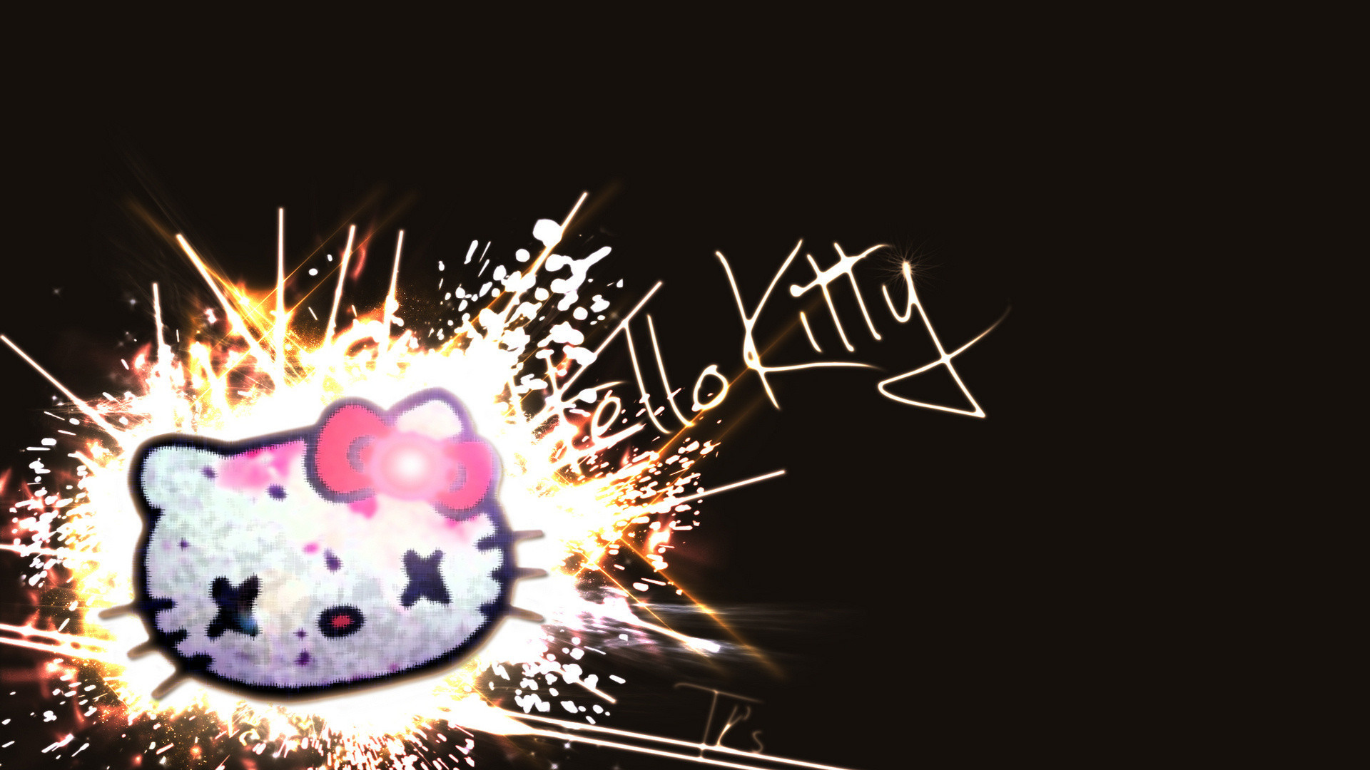 Cute Ipod Wallpapers For Walls Black Hello Kitty Background 183 ①
