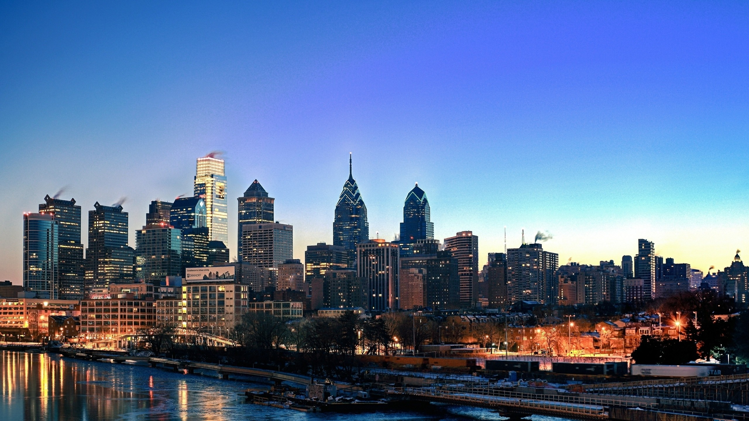 Black And White Feature Wall Wallpaper Philadelphia Skyline Wallpaper 183 ①