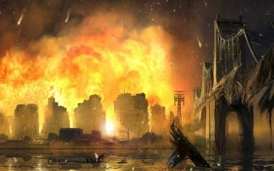 Burning City Background ·①