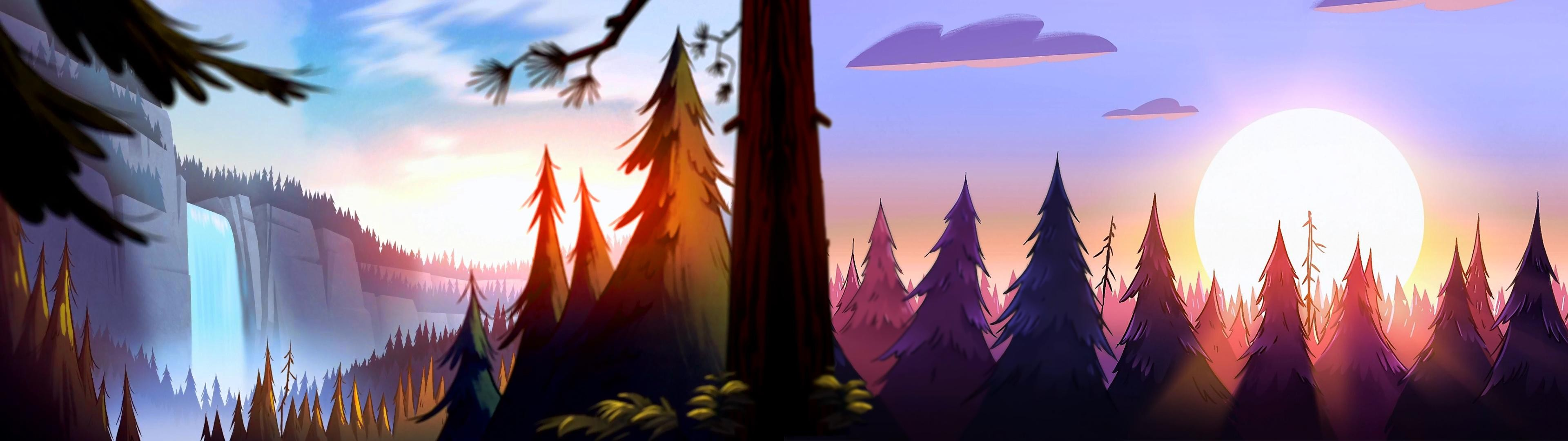 Fall Dual Monitor Wallpaper Gravity Falls Wallpaper 183 ① Download Free Cool Wallpapers