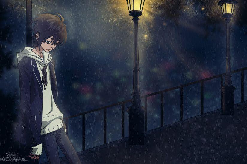 Anime Girl Alone Hd Wallpaper Moonlight Backgrounds Wallpaper Cave