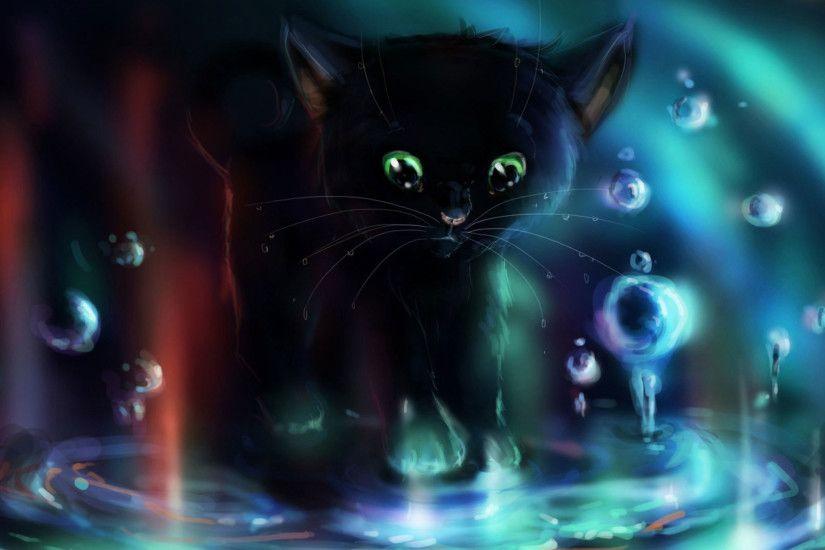 Cute Small Girl Wallpaper Cartoon Cat Wallpaper 183 ①