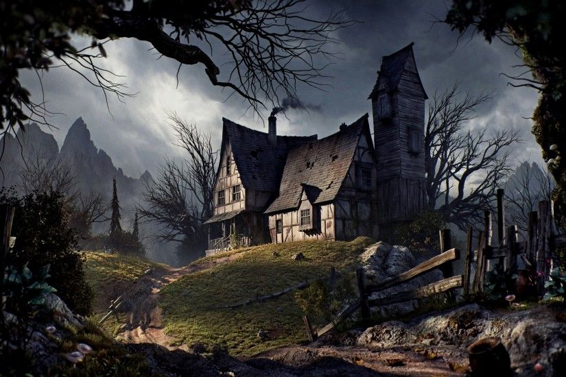 3d Horror Vampire Wallpaper Haunted House Wallpaper Desktop 183 ①