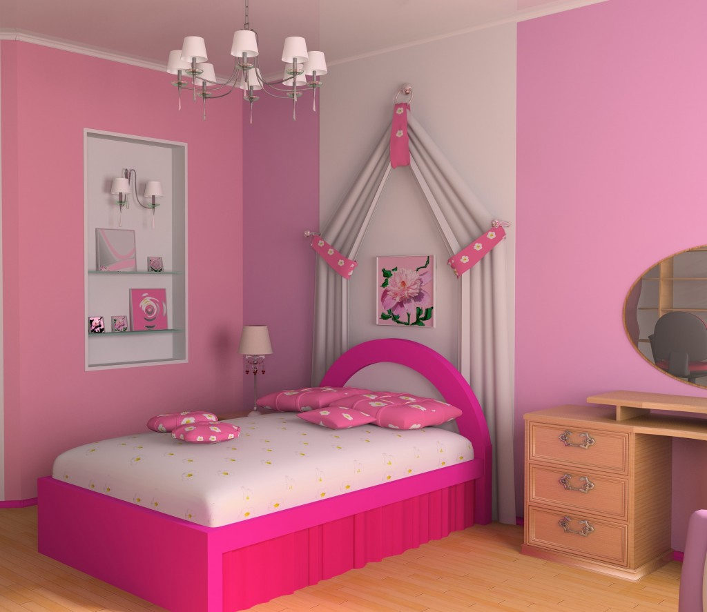 Kinderzimmer Wand Farbideen Tapete Nuansa Pink 1024x887 Wallpapertip