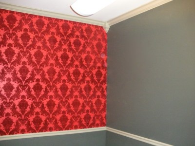 Expensive FLOCK wallpaper | Jim's Wallpaper and Painting