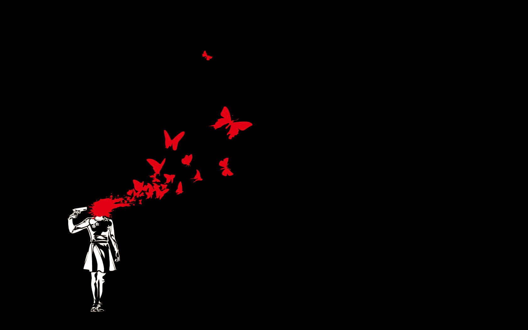 Dark Blood Wallpaper Dark Black Blood Butterfly Female Protagonist Persona3 Persona