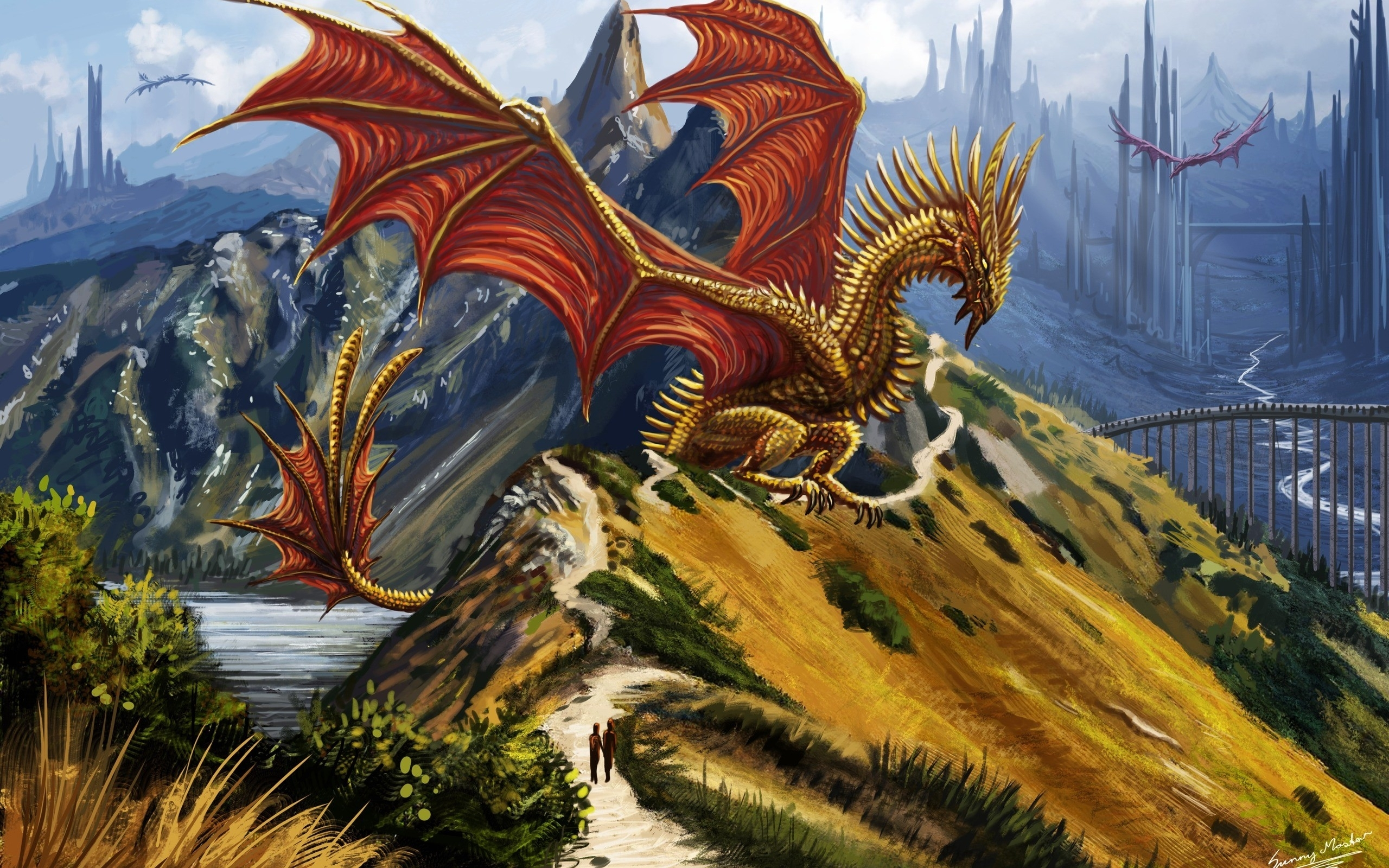 Fantasy World Art Dragon Dragons Fantasy Art Artwork Abstract Fantasy Dragon F