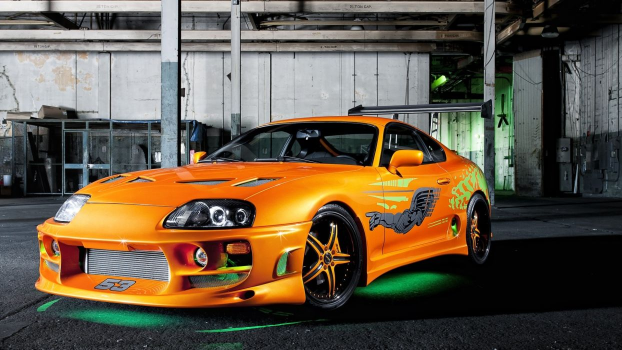 Toyota Supra From The Fast And The Furious Vehicles Tuning Toyota Supra Green Neon The Fast And The Furious