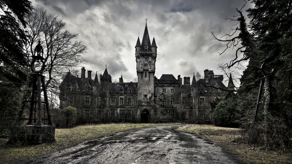 Kastelen Ardennen Victorian Abandoned Palace Old Buildings Wallpaper