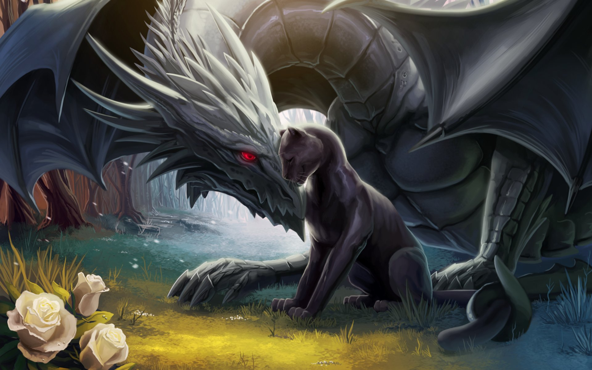 Fantasy World Art Dragon Dragon Fantasy Artwork Art Dragons Wallpaper 1920x1200