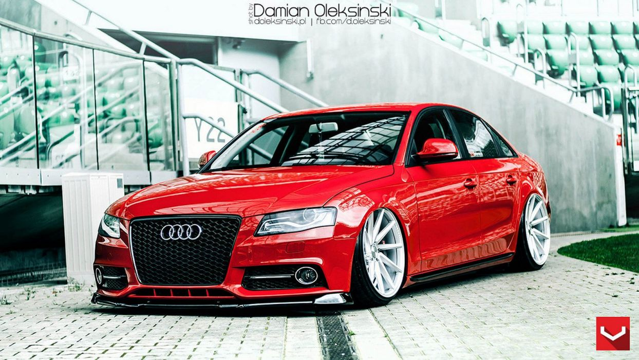 Audi A4 Coupe Audi A4 Red Vossen Wheels Tuning Coupe Cars Wallpaper 1600x900