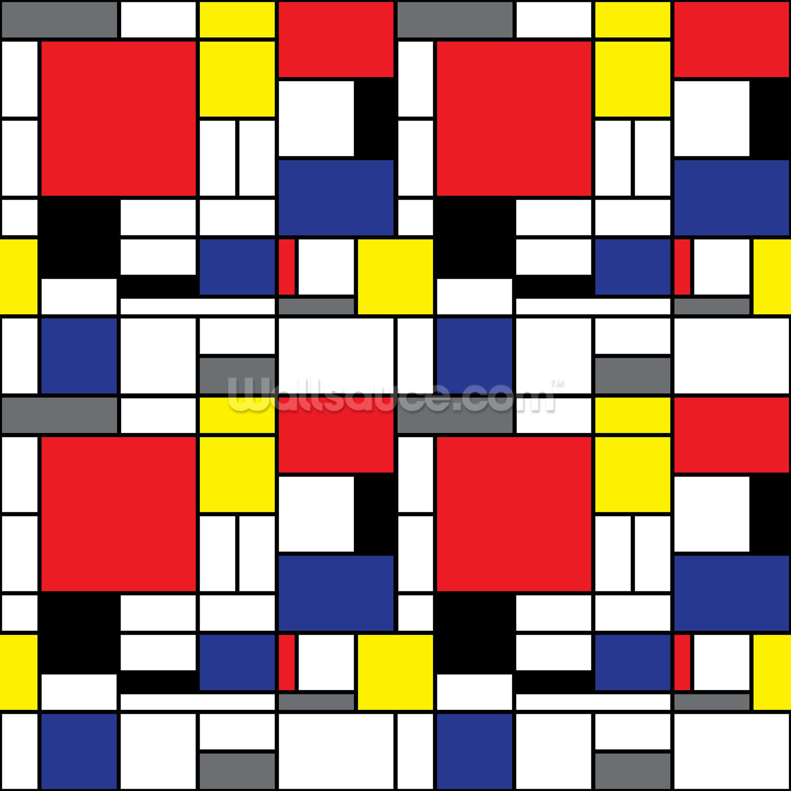 Cuadros Bauhaus Mondrian Wallpaper Wall Mural Wallsauce Uk