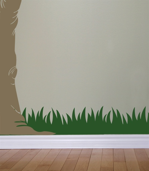 Living Room And Kitchen Combined Grass Wall Decals Stickers