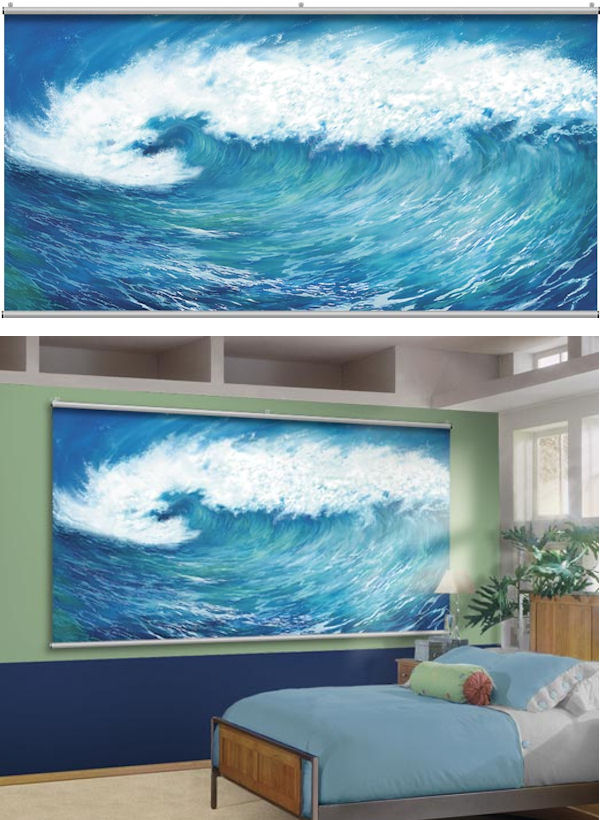 Metal Wall Covering Wave Minute Mural