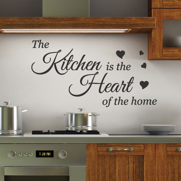 kitchen heart wall quotes stickers wall decals wall arts personalised kitchen wall sticker decals