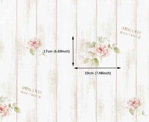 Rose Shabby Panel Contact Paper Peel And Stick Wallpaper