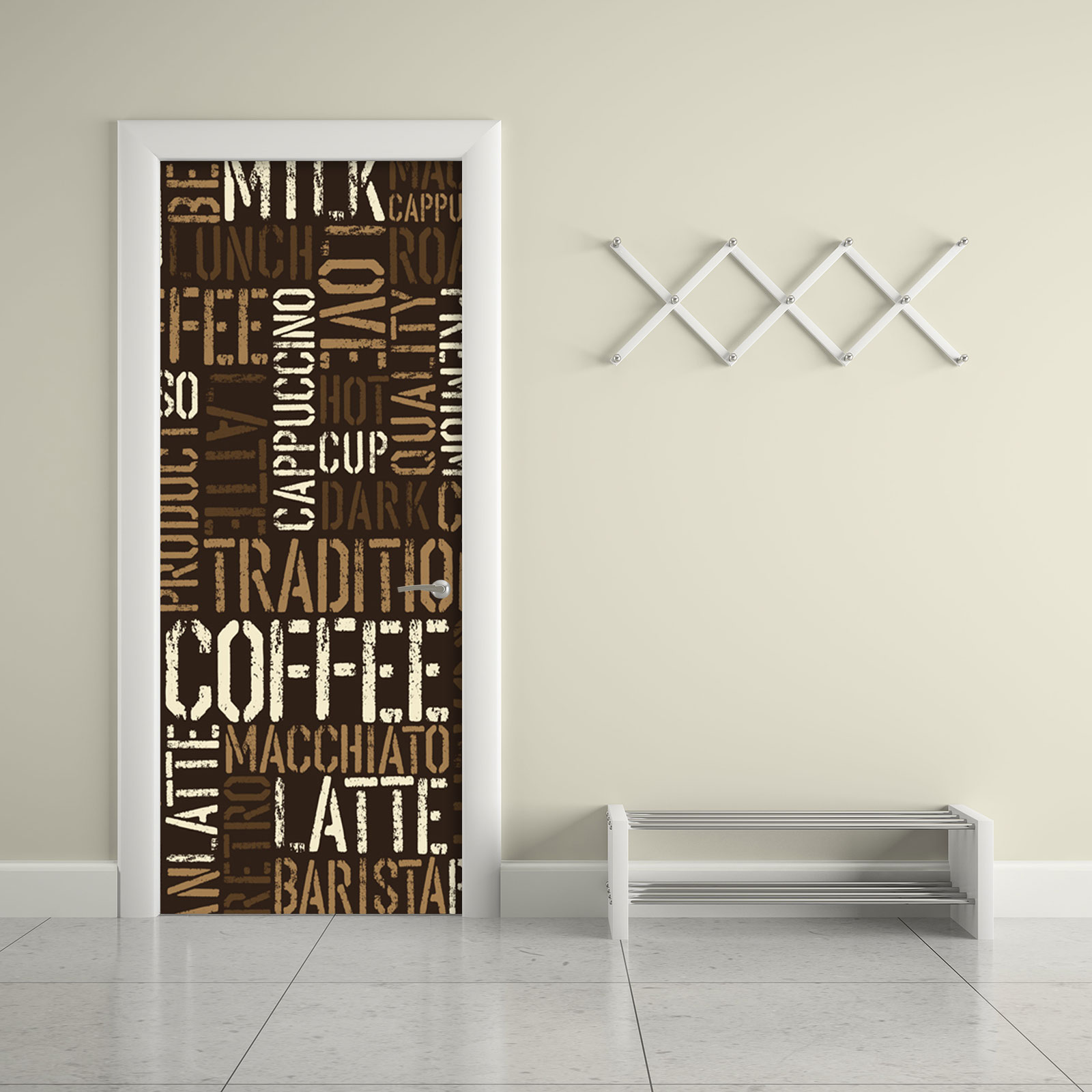 Contact Paper For Furniture Coffee Letter Typography Door Contact Paper Peel Stick