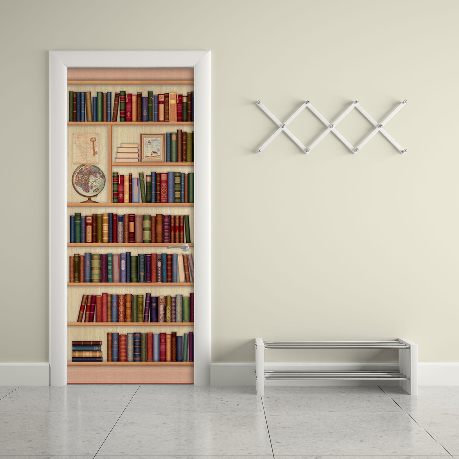 Contact Paper For Furniture Door Sticker Contact Paper Bookshelf With Globe
