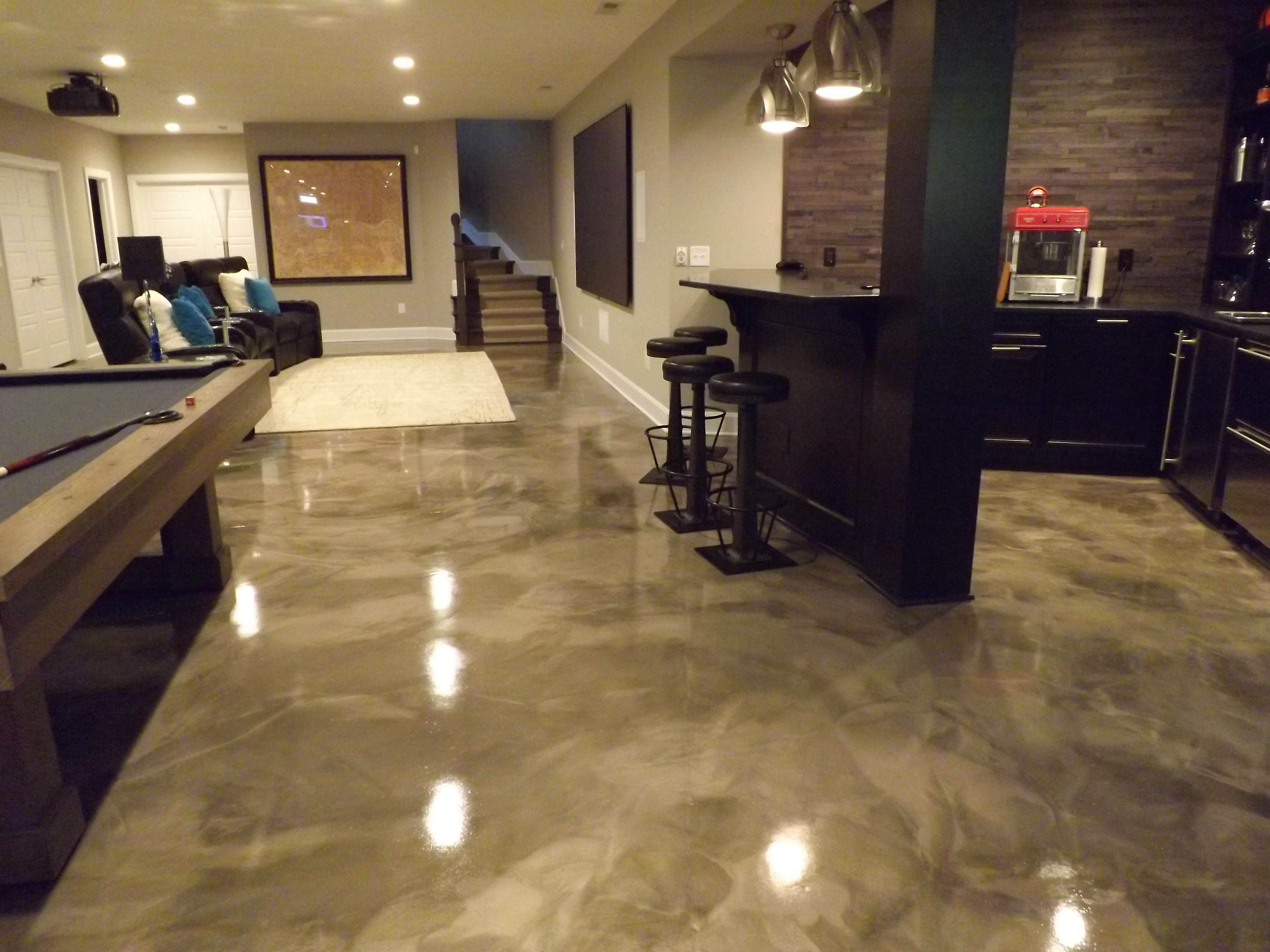 3d Kitchen Flooring Residential Epoxy Flooring South Florida Painting