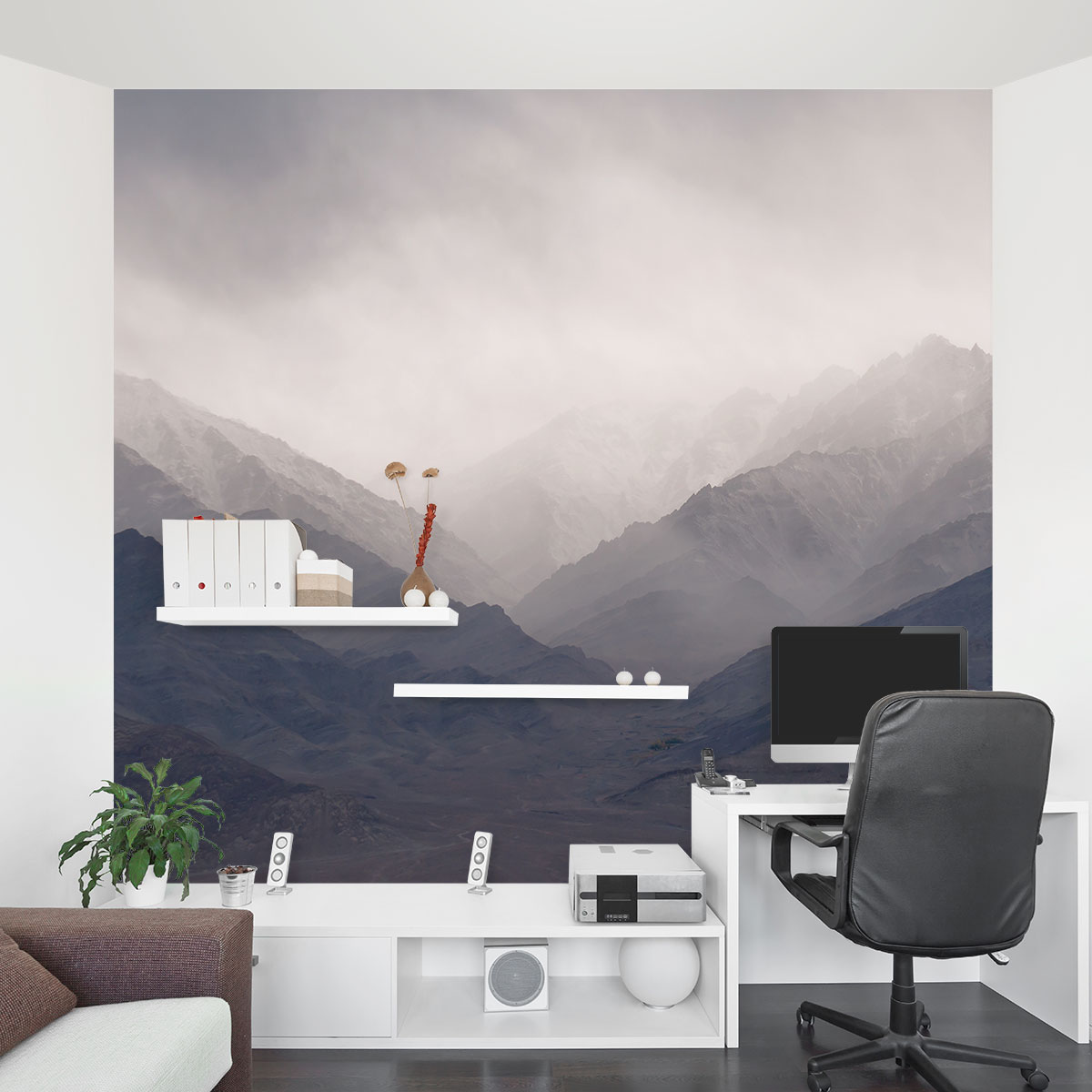 Photo Mural Misty Mountains Wall Mural