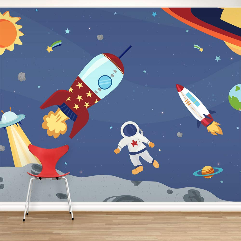 Removable Wallpaper Murals Space Adventure Wall Mural