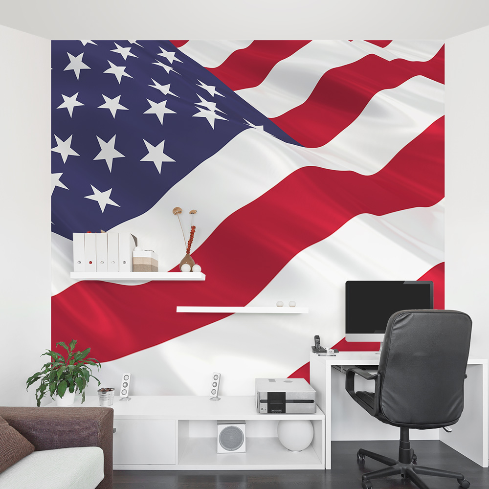 Removable Wallpaper Murals American Flag Wall Mural