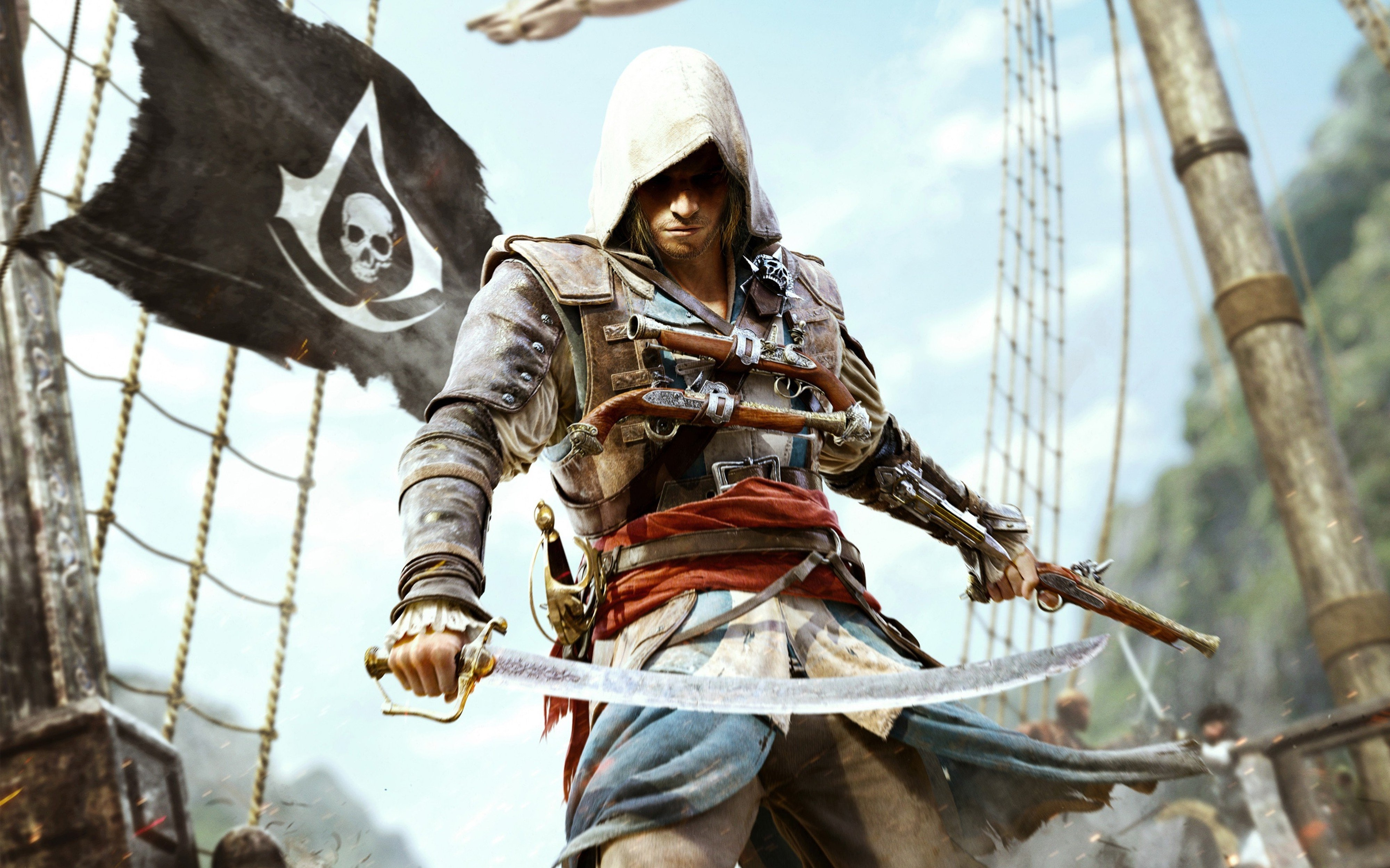 Assassins Creed 3d Wallpaper Assassins Creed 4 With Sabre Wallpapers Hd Desktop And
