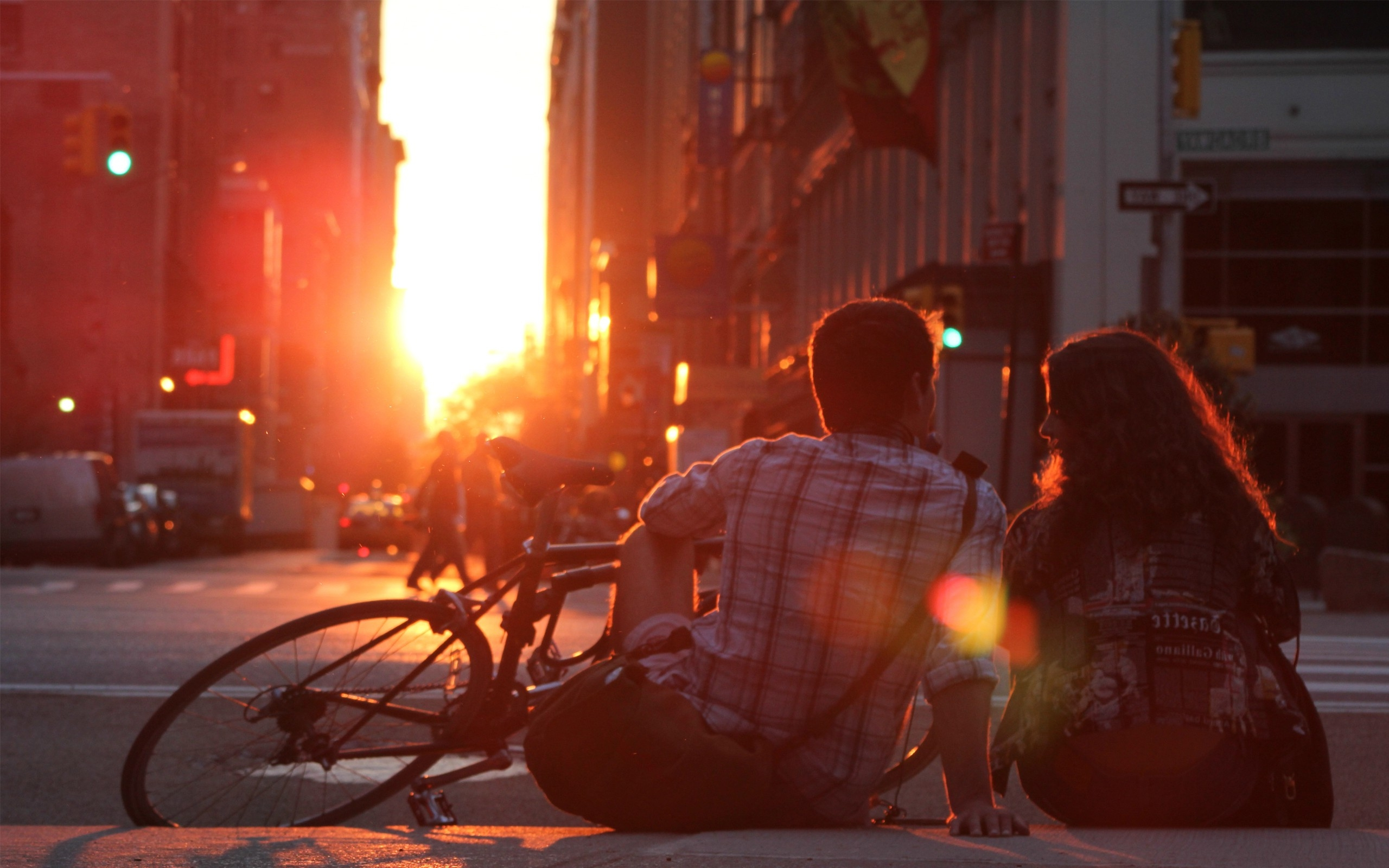 Full Hd Girl And Boy Love Wallpaper New York City Love In Sunset Wallpapers Hd Desktop And