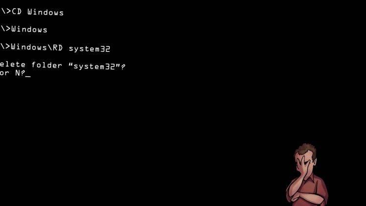 Pure Black Wallpaper Black Error Funny Computer Wallpapers Hd Desktop And