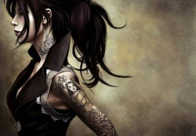 Brunette Women With A Cool Tattoo Wallpapers HD / Desktop and Mobile Backgrounds
