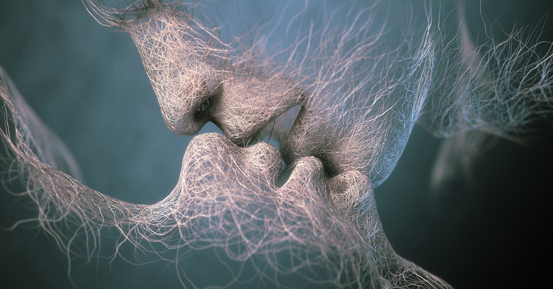 3d Couple Kissing Wallpapers Kiss Artwork Faces Hairs Wires Love Kissing Wallpapers Hd