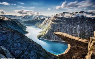 nature, Landscape, Mountain, Jumping, Norway Wallpapers HD / Desktop and Mobile Backgrounds