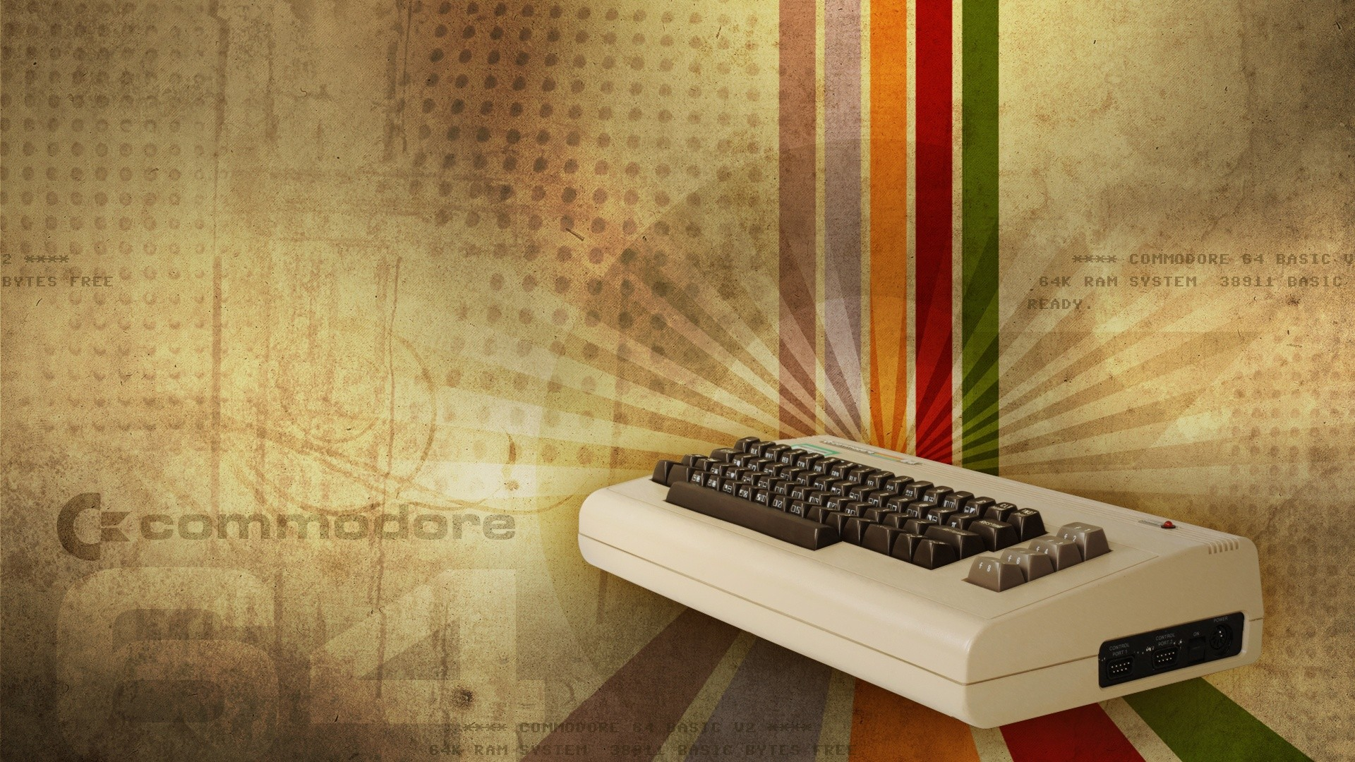 Pc Wallpaper 3d Hd Full Size Retro Games Commodore 64 Keyboards Vintage Consoles