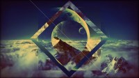 abstract, Clouds, Moon, Mountain Wallpapers HD / Desktop ...