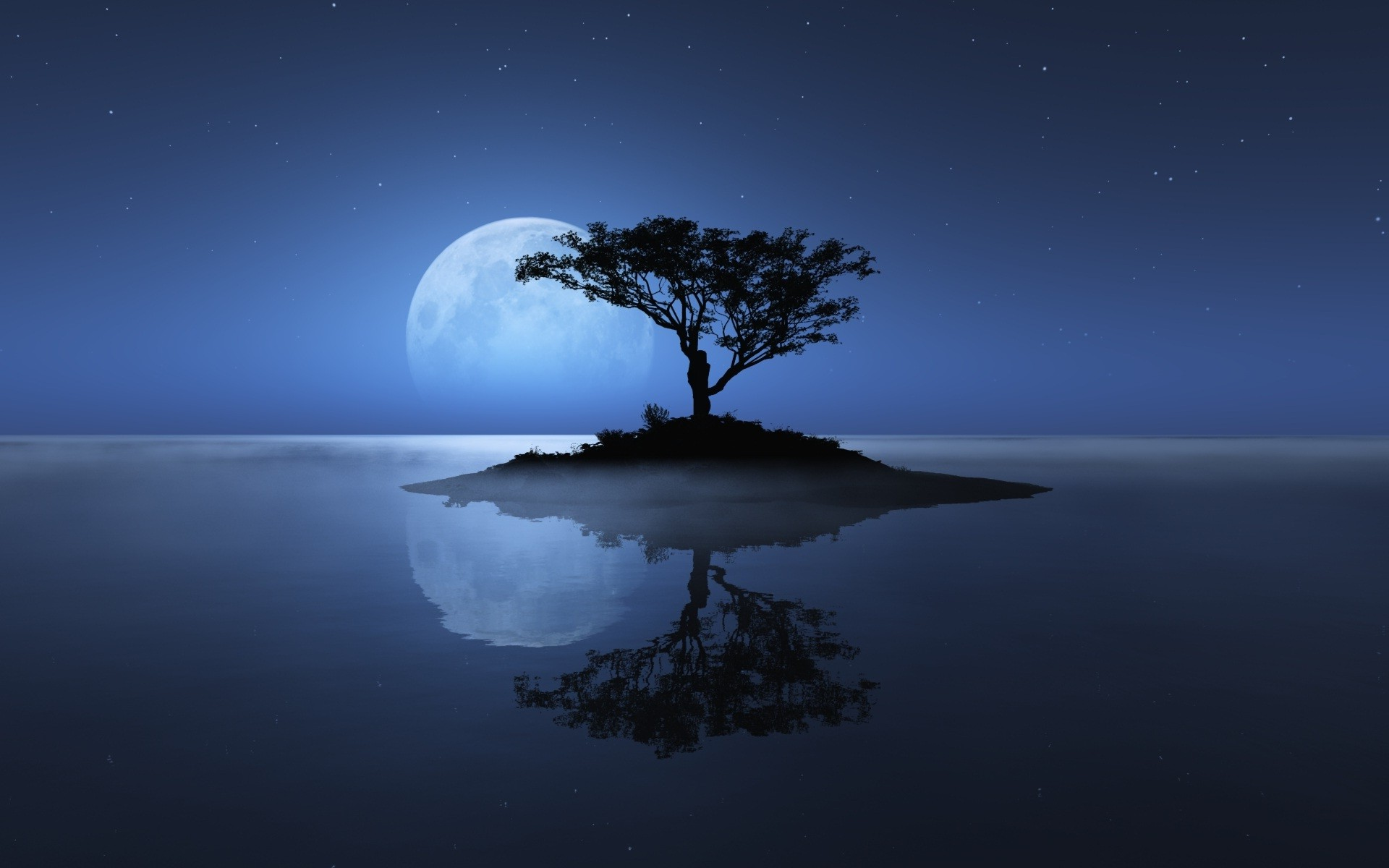 Buddha Wallpaper Hd For Iphone Nature Landscape Night Trees Water Moon Stars Sea
