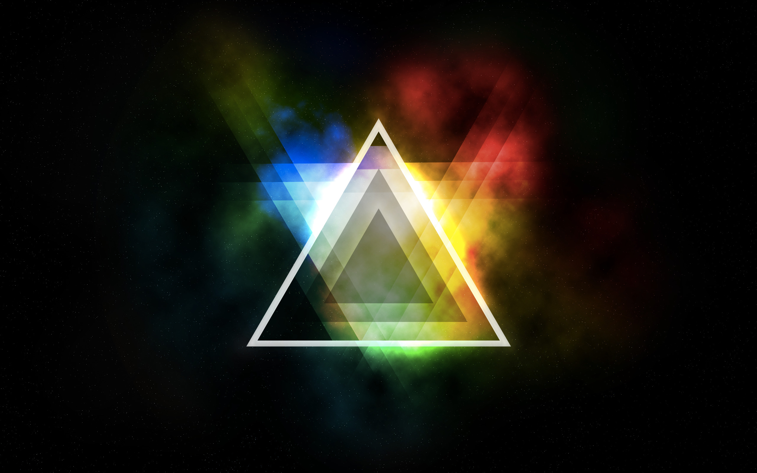 Illuminati 3d Wallpaper Abstract Colorful Triangle Wallpapers Hd Desktop And
