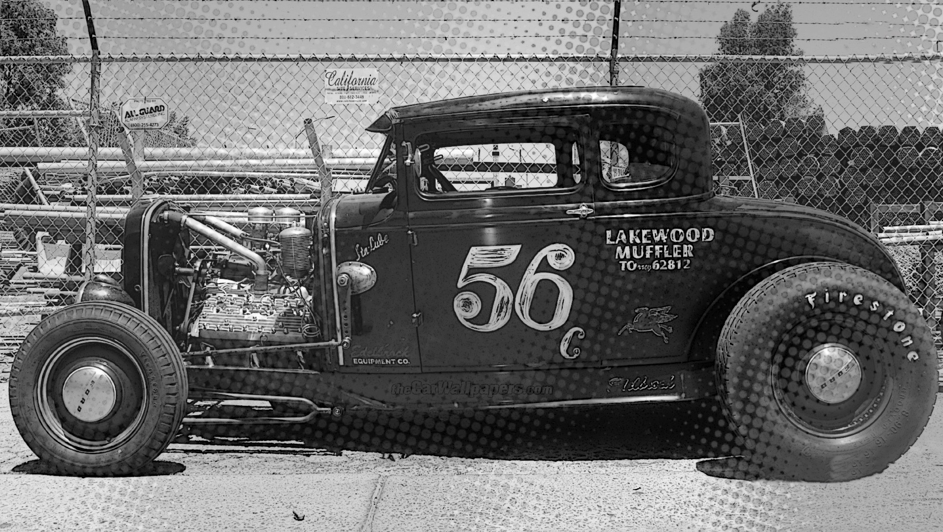 Police Car Wallpaper Mobile Hot Rod Monochrome Old Car Vintage Usa Wallpapers Hd