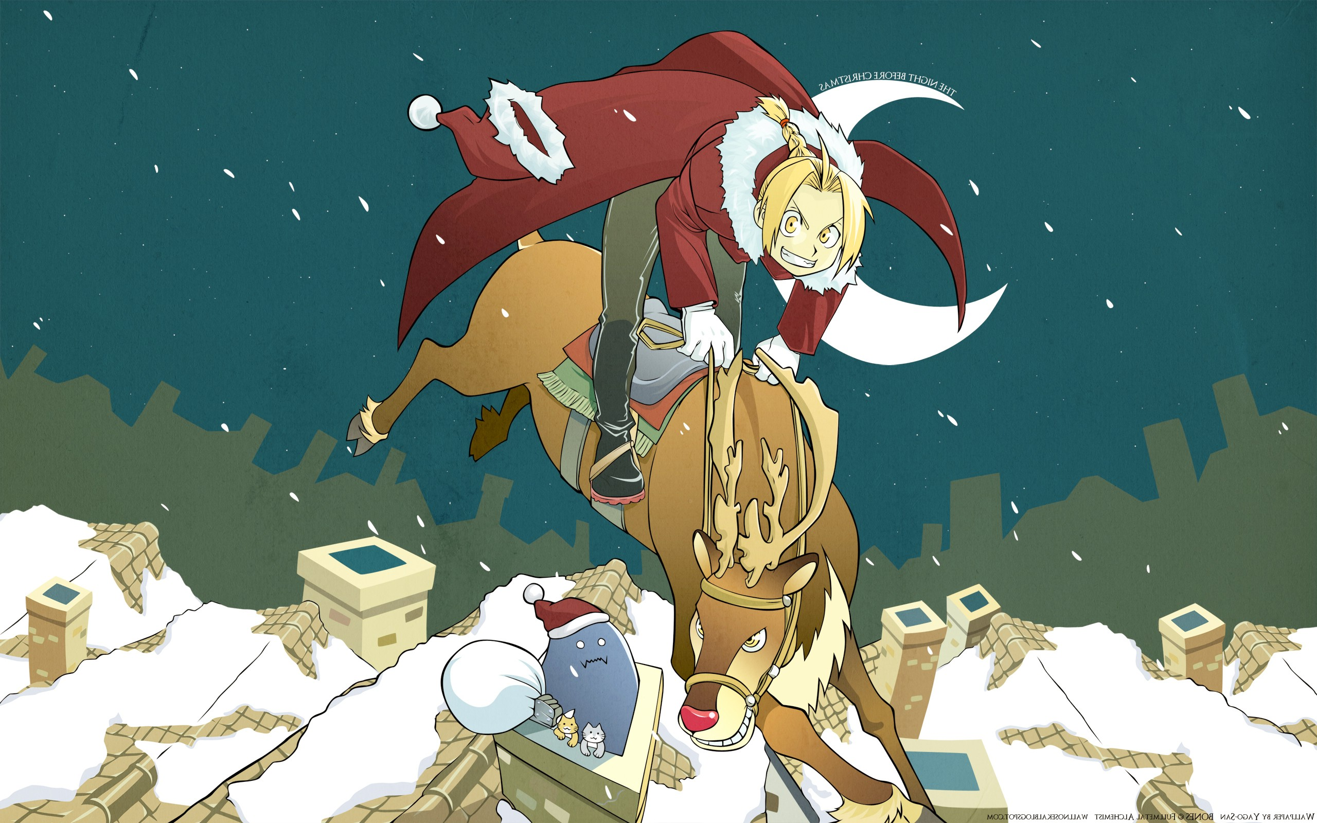 Dbz 3d Wallpapers Elric Edward Elric Alphonse Anime Christmas Wallpapers