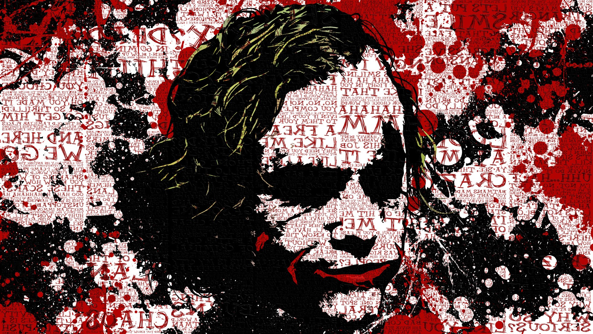 Batman Joker Quotes Mobile Wallpaper Batman Anime Movies Paint Splatter Typography The