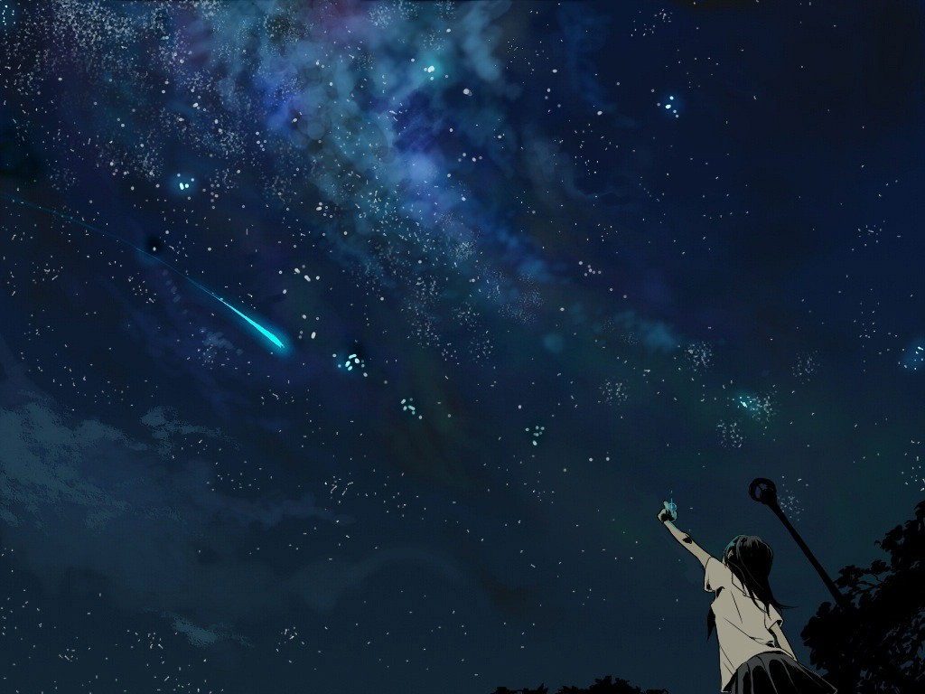 Fall Minimalist Wallpaper Anime Shooting Stars Wallpapers Hd Desktop And Mobile