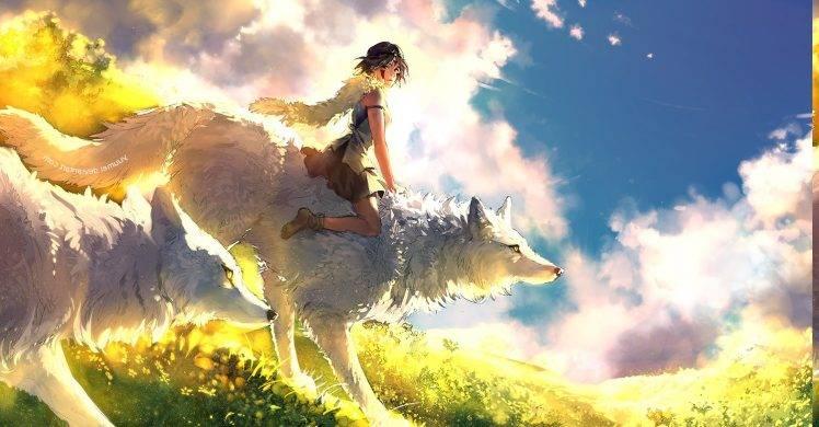 Wolf Girl And Black Prince Wallpaper Hd Princess Mononoke Anime Wolf Anime Girls Wallpapers Hd