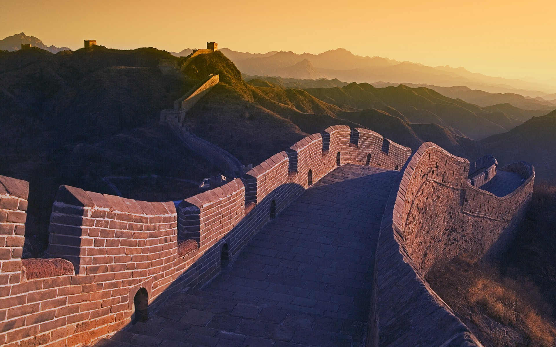 The Great Wall Movie Wallpaper Hd China Great Wall Of China Architecture Sunset Hill
