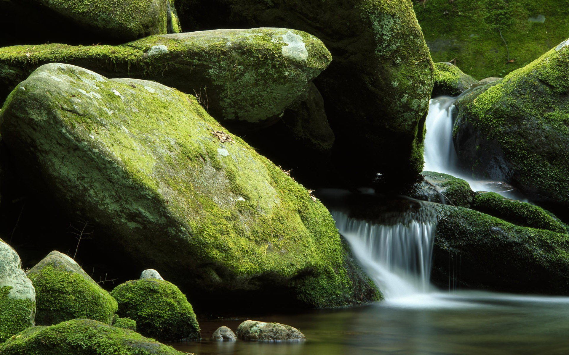 3d Waterfall Wallpaper For Mobile Nature Landscape Waterfall Rock Stones Long Exposure